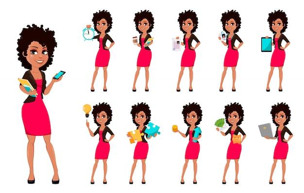 Joven mujer de negocios afroamericana