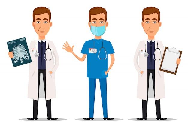 Joven profesional medico