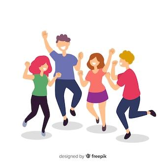 Jóvenes bailando