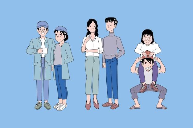 Jóvenes coreanos de moda