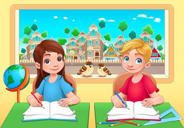 Jóvenes estudiantes en el aula.