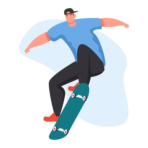 Jóvenes con truco de skate