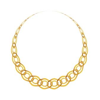Joyas de cadena de oro aisladas