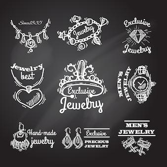 Joyas de emblemas de pizarra