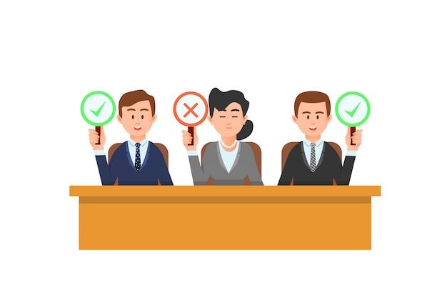 Los jueces tienen sus respectivas decisiones de juicio.