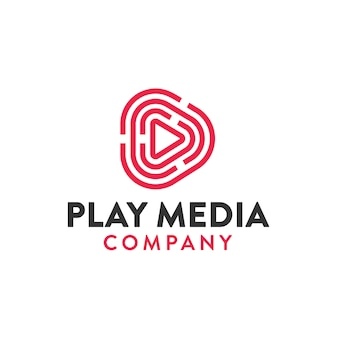Juega ilustración de logotipo de medios