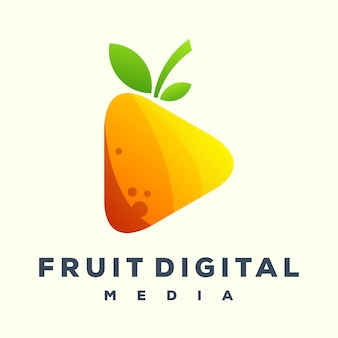 Juega el logo de fruit media