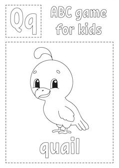 Juego de abc para niños. página para colorear alfabeto.