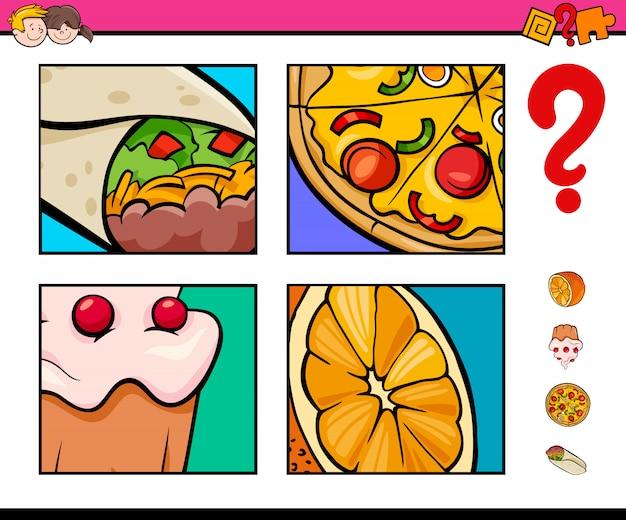 Juego de adivinar objetos de comida para niños