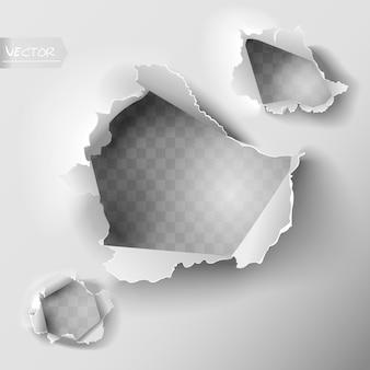 Juego de agujeros en papel.