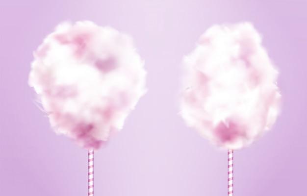 Juego de algodón de azúcar en palo