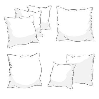 Juego de almohadas blancas