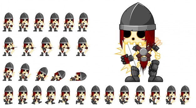 Juego de arquero esqueleto sprite