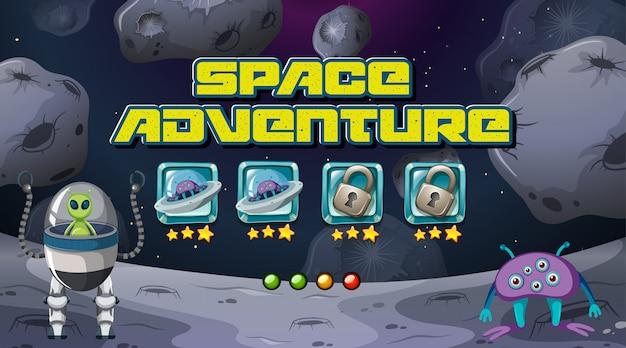 Juego de aventura espacial