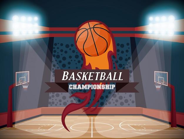 Juego de baloncesto deporte