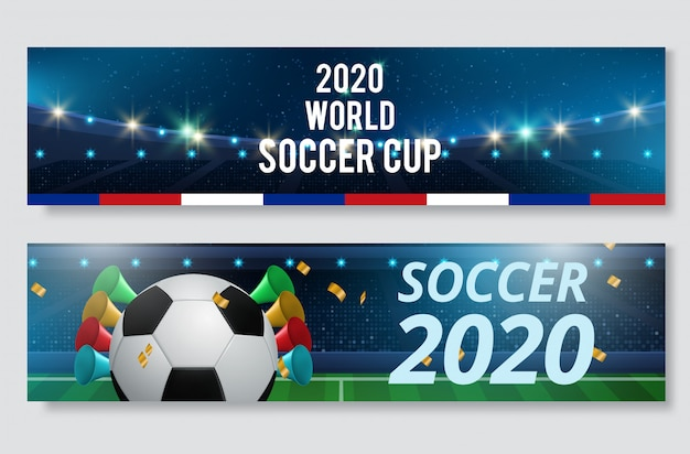 Juego de banner de fútbol o fútbol deporte juego