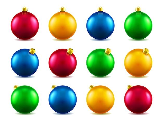 Juego de bolas para adornar el árbol de navidad