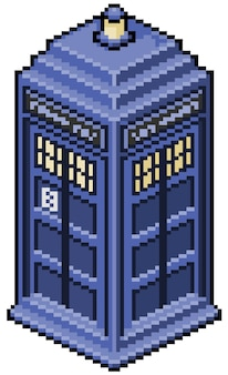 Juego de cabina telefónica en inglés de pixel art bit