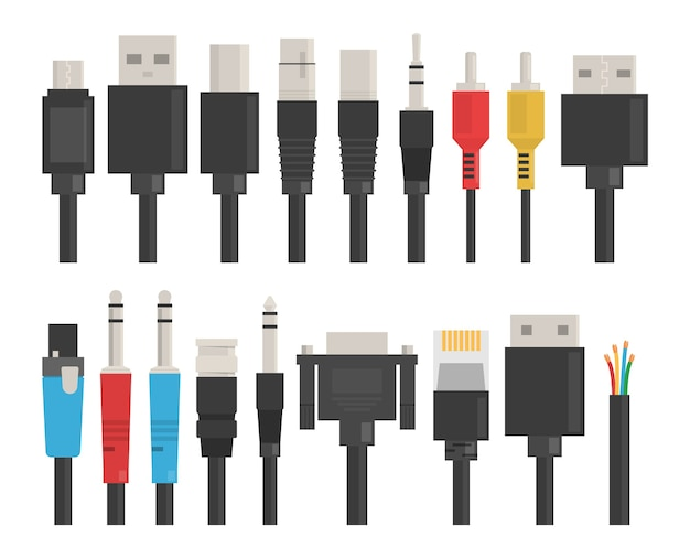 Juego de cables. usb para computadora, dispositivo de conexión