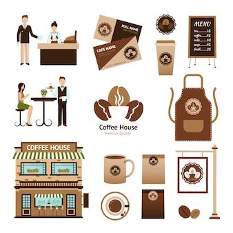 Juego de casa de café