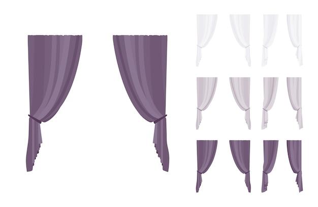 Juego de cortinas y cortinas