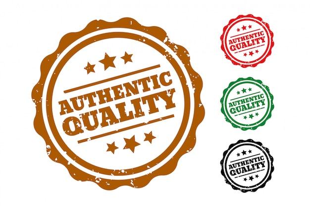 Juego de cuatro sellos de caucho de auténtica calidad