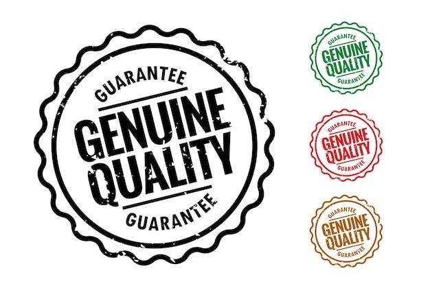 Juego de cuatro sellos de caucho de calidad genuina