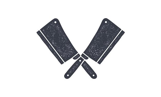 Juego de cuchillos de carnicero.