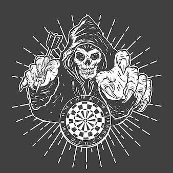 Juego de dardos grim reaper