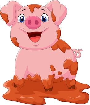 Juego de dibujos animados de purín de cerdo