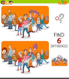 Juego diferencias educativas para niños