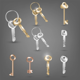 Juego de diferentes llaves
