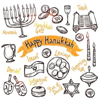Juego de doodle de hanukkah