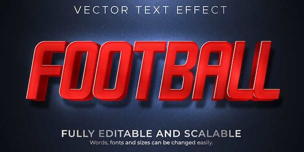 Juego editable de efecto de texto deportivo y estilo de texto de juego