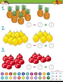 Juego educativo de cálculo matemático para niños