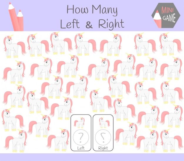 Juego educativo de contar orientado a izquierda y derecha