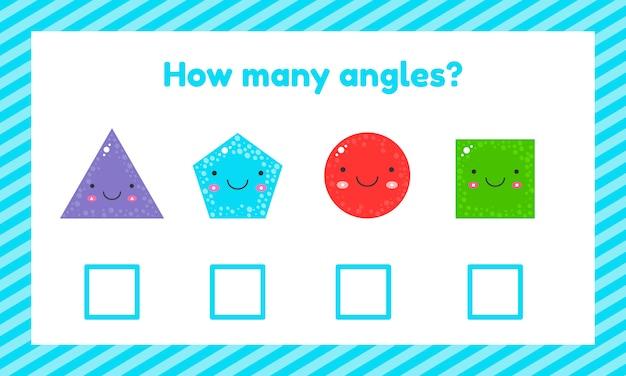 Juego educativo geométrico lógico para niños en edad preescolar y escolar.