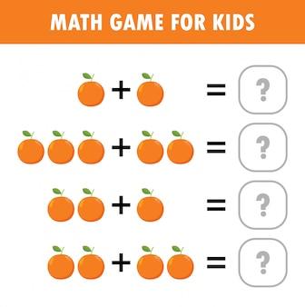 Juego educativo de matemáticas para niños. recuento de aprendizaje, hoja de trabajo adicional para niños.