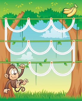 Juego educativo monkey - line dot