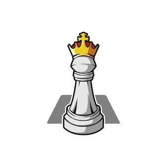 Juego de estrategia de pieza de rey de ajedrez