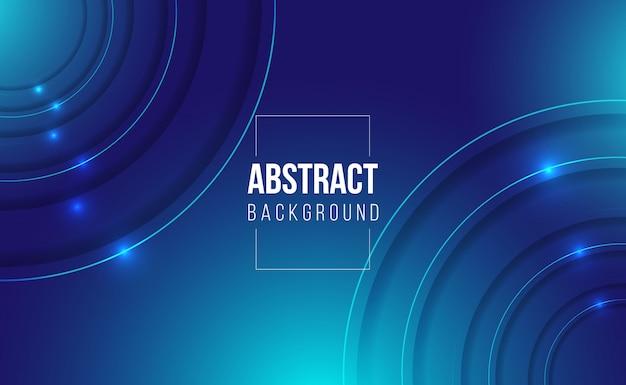 Juego de fondo degradado abstracto azul oscuro brillante