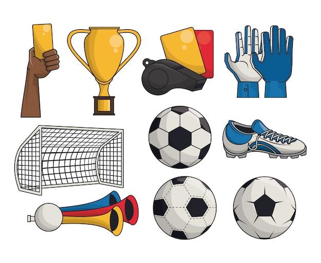 Juego de fútbol soccer