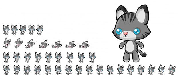 Juego de gatos sprites