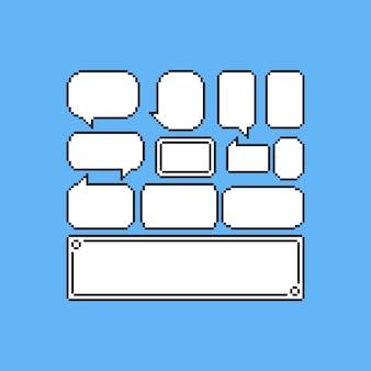 Juego de globos de discurso pixel juego