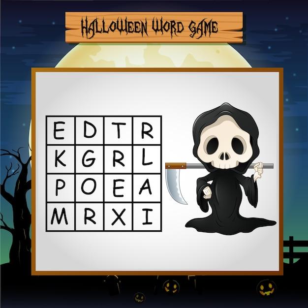 Juego de halloween encuentra la palabra de parca.