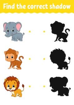 Juego infantil con animales