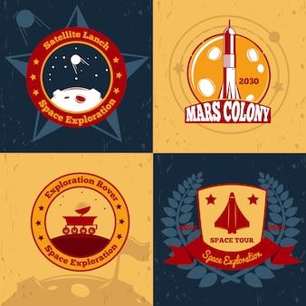 Juego de insignias de space odyssey
