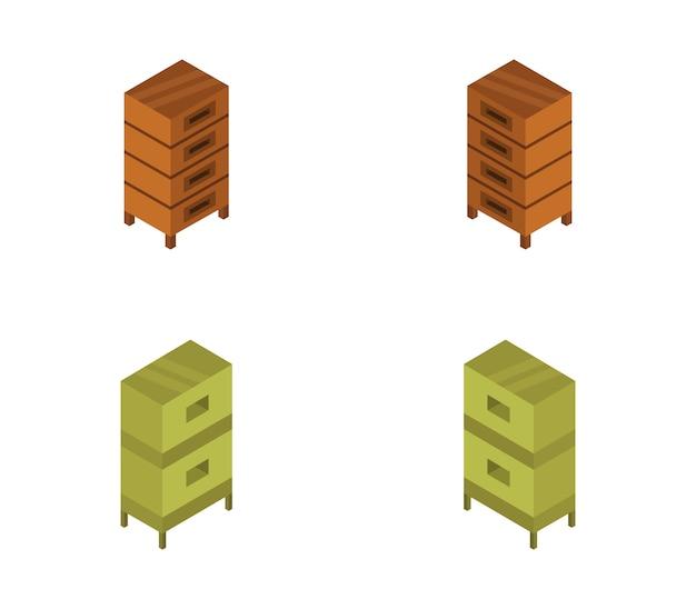 Juego isométrico de abejas de madera de colmena
