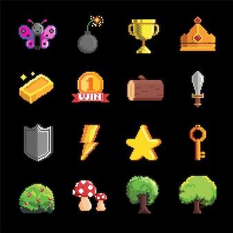 Juego de ítems, iconos de aplicaciones, conjunto de juegos