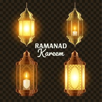 Juego de lámparas de ramadán
